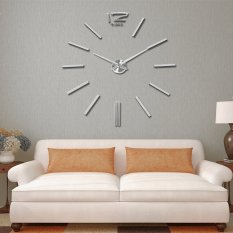 Jual Hot Fashion 3D Besar Diy Akrilik Cermin Stiker Art Wall Clock Analog Gerakan Baterai Ruang Tamu Kamar Tidur Dekorasi Rumah Dekorasi Intl Branded Original