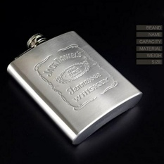 Hot Fashion Portable Engraved 7Oz Stainless Steel Hip Flask Personalized Flasks Color Stainless Steel Intl Di Tiongkok
