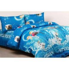 HOT PROMO Sprei Katun Jaxine Frozen Blue 90X200x20 N83