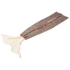 Hot Sale All Seasons Selimut Mermaid Tail Knit Crochet Grid untuk Remaja Dewasa Ruang Tamu Kamar Tidur Sofa Super Lembut Hangat Fashion Selimut Sleeping Bags dan Camping Bag 70.86 * 35.43in Putih-Intl