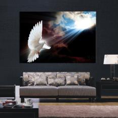 Hot Jual 1 Panel Besar HD Dove Putih Sun Decorative Art Printpainting Di Atas Kanvas untuk Ruang Tamu Lukisan Dinding Gambar -Intl
