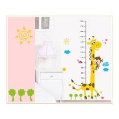 Hot Jual Jerapah Anak-anak Room Decor Wall Stiker Tinggi Growth Chart Kids DIY-Intl