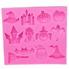 Jual Panas Halloween Pumpkin Witch Topi Castle Kelelawar Sapu Silikon Cetakan Fondan Dekorasi Kue DIY Alat E586-Internasional