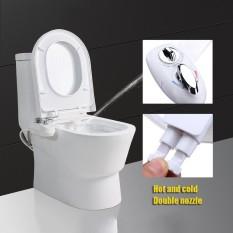 Hot/cold Nozzle Bidet Toilet Attachment Segar Kamar Mandi Semprot Air Kebersihan Tempat Duduk Putih-Intl By Qiaosha.