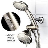 Harga Hotelspa 42 Setting Ultra Luxury 3 Way Shower Head Handheld Shower Combo With Patented On Off Pause Switch By Top Brand Manufacturer Brushed Nickel Intl Seken