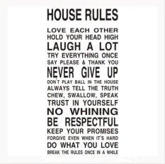 Jual Beli Online Aturan Rumah Dapat Dilepas Pvc Wallpaper Dinding Stiker For Kamar Tidur Ruang Tamu