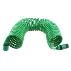 Cuci Mobil Rumah Tangga Garden Selang Air Kit Retractable Coil Selang dengan 7 Pattern Spray Nozzle Spesifikasi: Green 15 Meter Set-Intl