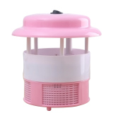 Spek Household Ultra Silent Usb Rechargeable Electronic Led Mosquito Insect Bug Pest Fly Inhaler Trap Repellent Killer Lamp Pink
