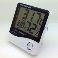 Toko Htc 1 Thermometer Hygrometer Clock Temperature Humidity Meter Online Terpercaya