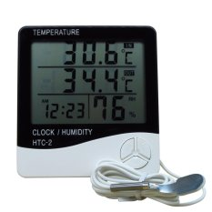 HTC - 2 Digital Multifunction Thermometer IN and OUT and Hygrometer - Putih HTC2