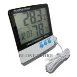 Beli Htc 2 Termometer Hygrometer Jam Digital Thermometer Pengukur Alat Ukur Suhu Kelembaban Pakai Kartu Kredit