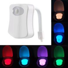 Sensor Gerakan Otomatis Manusia Kursi Toilet Kamar Mandi Cahaya LED Lampu Berwarna-Warna-Warni