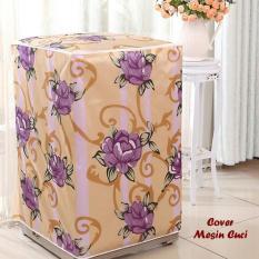 Jual Beli Hw Cover Mesin Cuci Buka Atas Type A Bunga Ungu