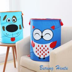 HW Keranjang Pakaian/ Laundry Bag Karakter - Biru Tua