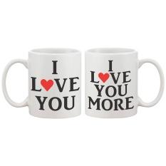 Harga I Love You Matching Mug Teh Mug Teh Kunyit Sempurna Pernikahan Keterlibatan Hut Dan Hadiah Hari Valentine Intl Online