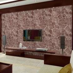 iBelieve 45*100cm Vintage Bricks Pattern Self Adhesive Waterproof Wallpaper for Bedroom Living Room Kitchen Furniture Decor (9#) - intl