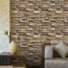iBelieve 45*100cm Vintage Bricks Pattern Self Adhesive Waterproof Wallpaper for Bedroom Living Room Kitchen Furniture Decor (1#) - intl