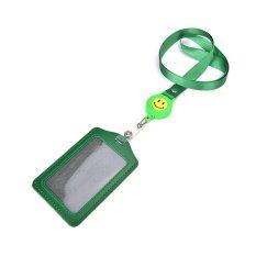 ID Nama Pemegang Kartu Badge Retractable Reel Mundur Lencana ID Tali-temali Kapal Belt Klip Green-Intl