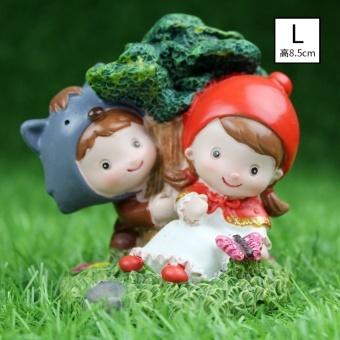 Jika Pasangan Pengantin Kreatif Little Red Riding Hood Kecil Dekorasi Rumah Pernikahan Kamar Dekorasi Pernikahan Hadiah Resin Doll- INTL