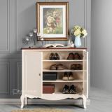 Toko Ifurnholic Baroque Shoe Cabinet Tempat Penyimpanan Sepatu Dan Sandal Putih Tulang Top Coklat Tua Gratis Pengiriman Pulau Jawa Dan Denpasar Lengkap