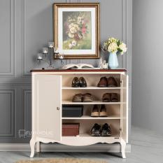 Harga Ifurnholic Baroque Shoe Cabinet Tempat Penyimpanan Sepatu Dan Sandal Putih Tulang Top Coklat Tua Gratis Pengiriman Pulau Jawa Dan Denpasar Terbaru