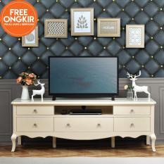 Jual Ifurnholic Baroque Tv Cabinet 160 Meja Tv Putih Tulang Gratis Pengiriman Pulau Jawa Dan Denpasar Ifurnholic Online