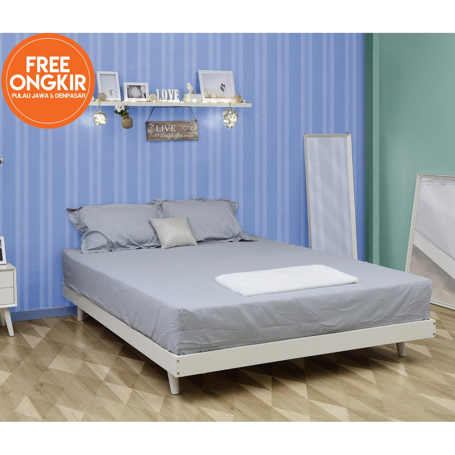 iFurnholic GPW Single Bed 120 - Ranjang / Tempat Tidur - PutihTulang - Pemgiriman Gratis Pulau Jawa dan Denpasar