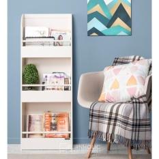 Beli Ifurnholic Rayya Display Bookcase Rak Majalah Putih Tulang Gratis Pengiriman Pulau Jawa Dan Denpasar Lengkap
