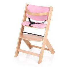 iKayaa Toddler Baby Wooden High Chair with Cushion Height Adjustable Beech Wood Highchairs for Kids - intl