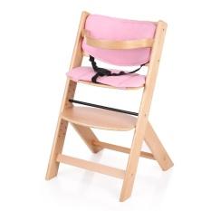IKayaa Balita Bayi Kursi Tinggi Kayu dengan Cushion Tinggi Adjustable Kayu Beech Kursi Tinggi untuk Anak-anak-Intl