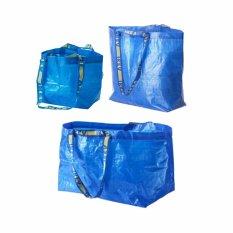IKEA 3 pcs Kantong Belanja Tebal Kantong Baju Kotor Berbagai Ukuran Frakta Carrier Laundry Shopping Bag