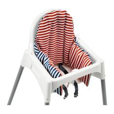 Ikea Antilop Kursi Makan Anak Dengan Baki dan Bantal Penyangga - Merah/Biru