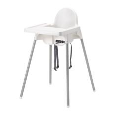 Ikea Antilop Kursi Makan Anak Dengan Baki - Putih