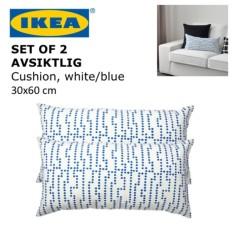 IKEA AVSIKTLIG 30x60 cm Sofa Couch Cushion Pillow Throw Bed Accent Side Small Playful Fun Decor