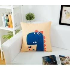 Ikea cartoon canvas pillow cushion sofa cushions office car waist cushion bed backrest pillow cover containing core