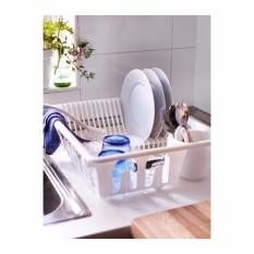 Ikea Flundra Rak Pengering Piring Alat Makan Gelas Dish Drainer Putih By Home Shopping Online.