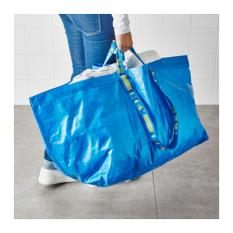 Ikea Frakta - Kantong Belanja Serbaguna Besar 71 L - Biru By Health And Beauty Solution.