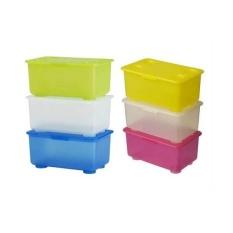 IKEA GLIS Box With Lid- Kotak Serbaguna Dengan Penutup- Isi 3 Box