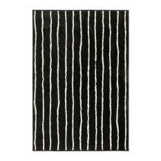 Ikea Gorlose Karpet Bulu Tipis - Hitam - Putih
