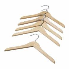 Ikea Hanga Gantungan Baju Anak Bahan Kayu Solid - 5 Pcs