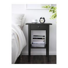 IKEA HEMNES Meja samping tempat tidur, Side table, Meja sisi sofa,hitam-cokelat,46x35 cm