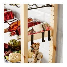 IKEA IVAR Pengait Untuk Unit Samping 1 Set Isi 3 Pieces Bahan Baja