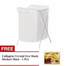 Ikea Jall Laundry Bag Keranjang Cucian Free Collagen Eye Mask Masker Mata Panda  - Putih
