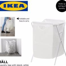 Ikea Jall Laundry Bag with Stand  Keranjang Cucian - Putih