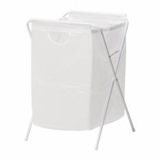 IKEA Jall - Keranjang Baju Kotor Lipat - Laundry Basket - Tempat Cucian dengan Stand