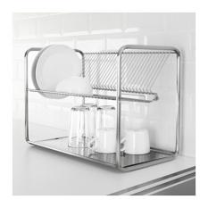 IKEA ORDNING- Pengering Piring &Rak Piring Dari Baja Tahan Karat