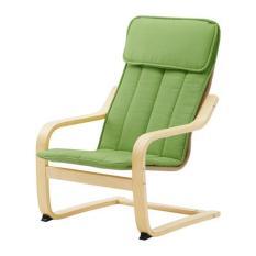 Ikea Poang Kursi Anak Berlengan Kayu Birch - Hijau