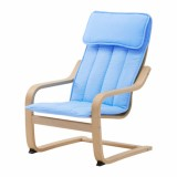 Jual Ikea Poang Kursi Berlengan Anak Veneer Kayu Birch Biru Online