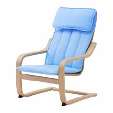 Ikea Poang Kursi Berlengan Anak Veneer Kayu Birch - Biru