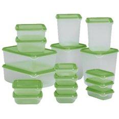 Jual Ikea Pruta 17 Set Wadah Penyimpan Makanan Hijau Branded Original
